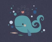 retro.hvalen.whale.by.mette.bundgaard